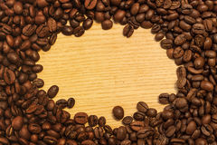 Frame Coffee background. Coffee background for a card or menu Royalty Free Stock Photos