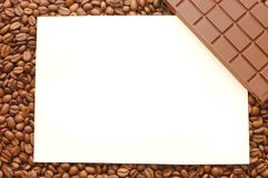 Frame  from coffee beans Stock Photos