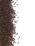 Frame of coffee beans. Frame made of coffee beans on the white background Stock Image