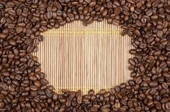 Frame coffee beans Stock Photo