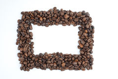 Frame of the coffee beans Royalty Free Stock Photos