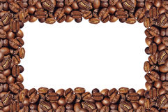 Frame of coffee beans Royalty Free Stock Photography
