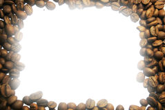Frame of coffee beans Royalty Free Stock Image