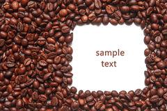 Frame of coffee beans Stock Photography