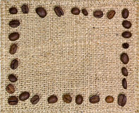 Frame of coffee beans Stock Photos