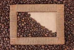 Frame of coffee beans Stock Photos