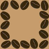 Frame coffee beans, vector Royalty Free Stock Image