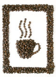 Frame of coffee with cup symbol Royalty Free Stock Photo