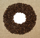 Frame from coffee grains Royalty Free Stock Photo