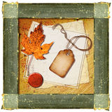 Frame Collage. A vintage frame collage with scraps of paper Vector Illustration