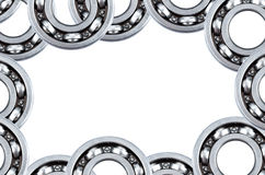 Frame collage from steel ball bearing Stock Photo