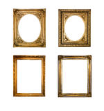 Frame collection. Collection of old squared and rounded frames isolated Royalty Free Stock Photography