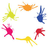 Frame from color blots. Vector illustration of Frame from color blots Stock Image