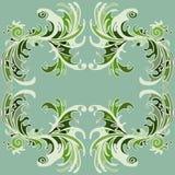 Frame color painting flower petals. Frame color pattern petals flower Stock Photos