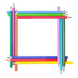 Frame from color pencils Stock Photography