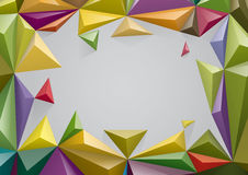 Frame from color pyramid, You can change the color keeping 3d form Stock Photography