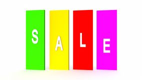 Frame colorato etichette di bianco dell'etichetta di vendita rappresentazione 3d royalty illustrazione gratis