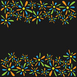 Frame of colored florets petals Royalty Free Stock Images