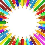 Frame from colored pencils. Royalty Free Stock Images