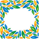 Frame of colored petals. On a white background stock illustration