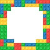 Frame of colored plastic blocks Stock Photos