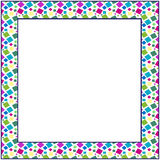 Frame from colored shapes Royalty Free Stock Images