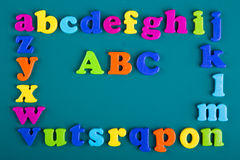 Frame of Colorful alphabet Royalty Free Stock Photography