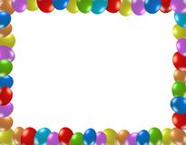 Frame of colorful balloons Stock Image