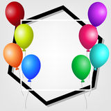 Frame with colorful balloons. Royalty Free Stock Image