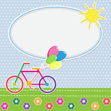 Frame colorful bike Royalty Free Stock Images