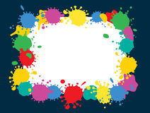 Frame of colorful blobs Royalty Free Stock Photo