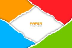 Frame of colorful bright lacerated papers. Vector illustration Royalty Free Stock Photography