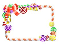 Frame with colorful candies. royalty free illustration