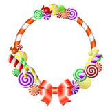 Frame with colorful candies. Royalty Free Stock Photography