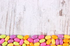 Frame of colorful candies, copy space for text Stock Photo