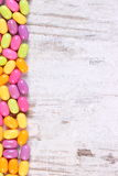 Frame of colorful candies, copy space for text Stock Photography
