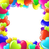 Frame of colorful  cartoon heart Royalty Free Stock Photo