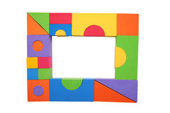 Frame of colorful children's building blocks Stock Photography