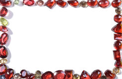 Frame of colorful jewels. Stock Photo