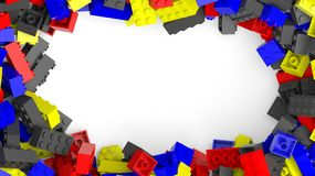 Frame from colorful lego blocks Stock Photography
