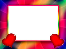 Frame Colorful Love Stock Image