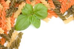 Frame of colorful pasta Royalty Free Stock Image
