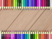 Frame by Colorful Pencils Stock Image