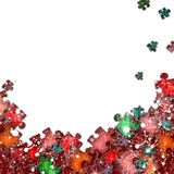 Frame from colorful puzzle elements. There is a frame from colorful puzzle elements Stock Images