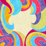 Frame with colorful swirls. Stock Photo