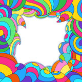 Frame with colorful swirls and waves. Royalty Free Stock Photography