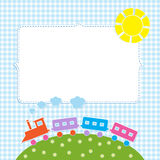 Frame with colorful train Stock Photography