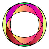 Frame colorido da foto do vidro colorido Fotografia de Stock Royalty Free