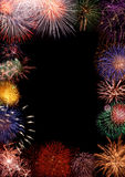 Frame colorido dos fogos-de-artifício Imagem de Stock Royalty Free