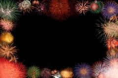 Frame colorido dos fogos-de-artifício Foto de Stock Royalty Free
